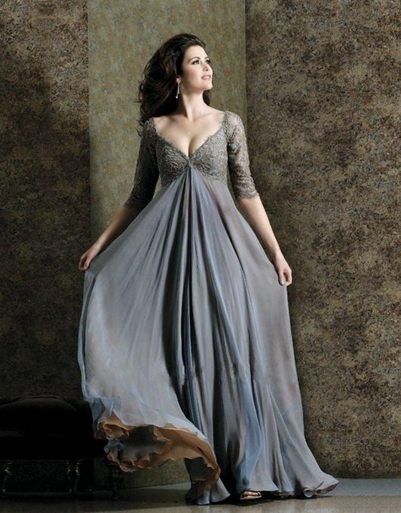 512064756303fc2 Сегодня дизайнеры стремятся приложить максимум усилий, чтобы создать  роскошные вечерние платья для полных