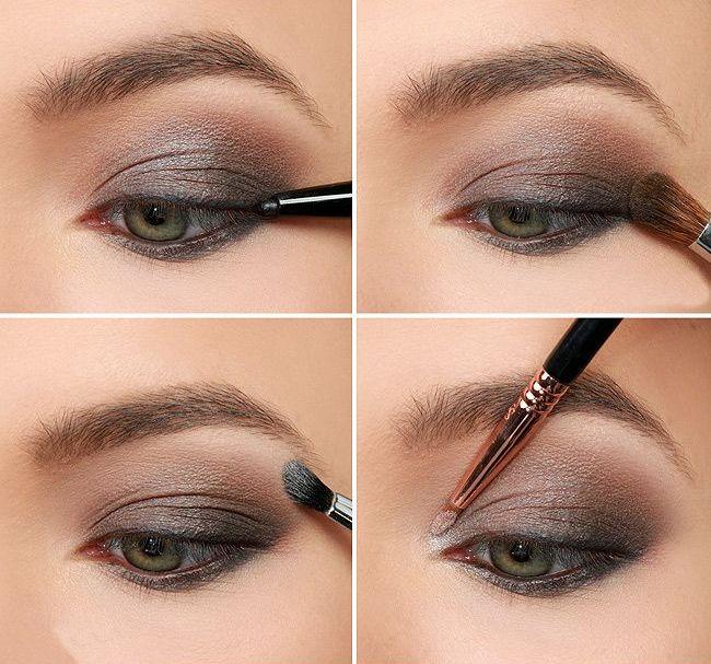Серый макияж для серых глаз пошаговое фото