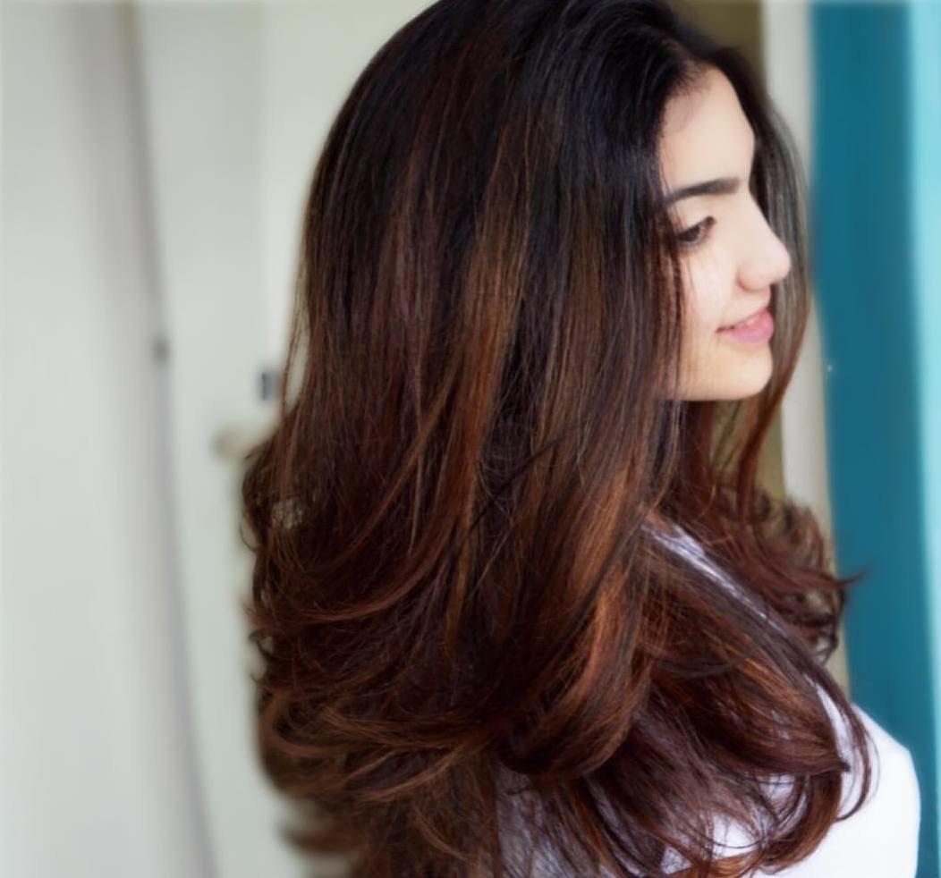 Балаяж на рыжих волосах фото