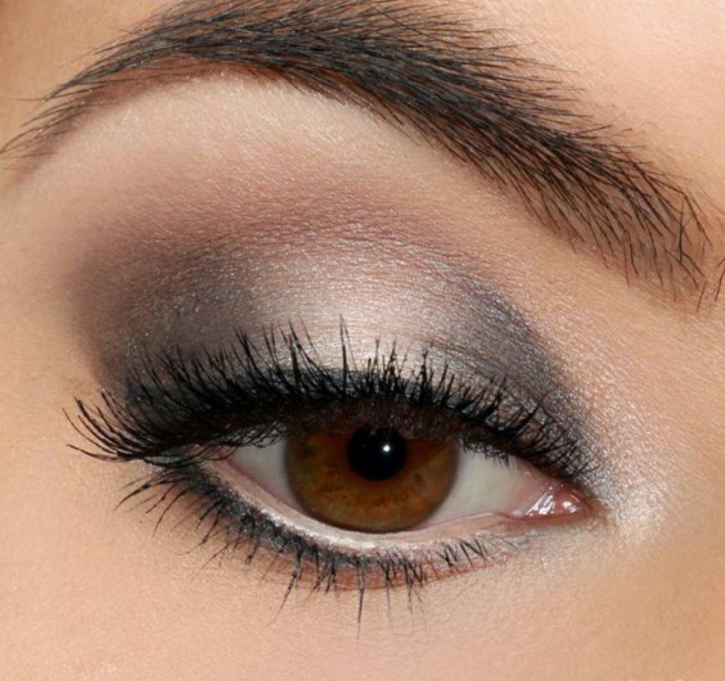 легкий макияж для карих глаз картинки