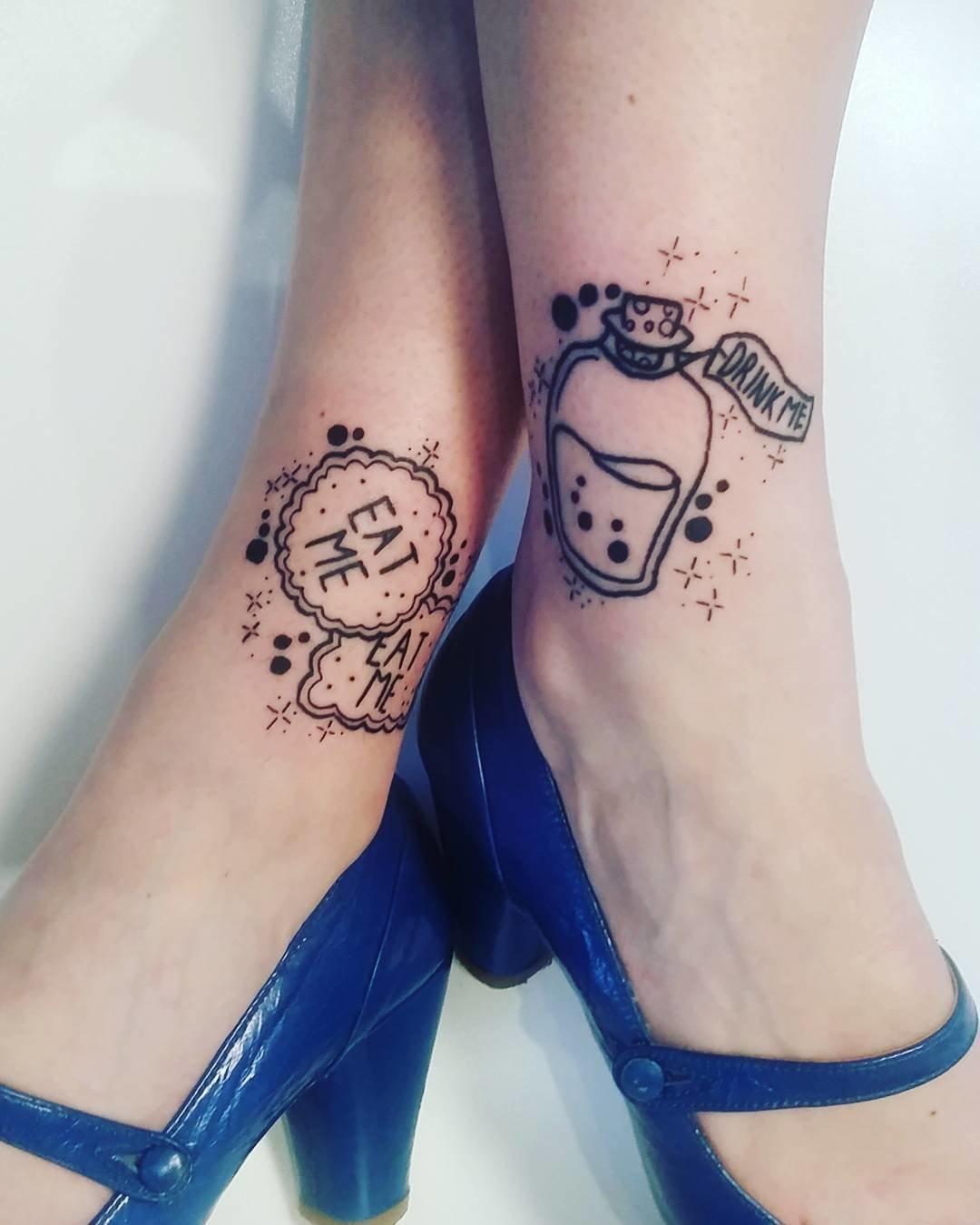 Trend тату на ноге женские фото