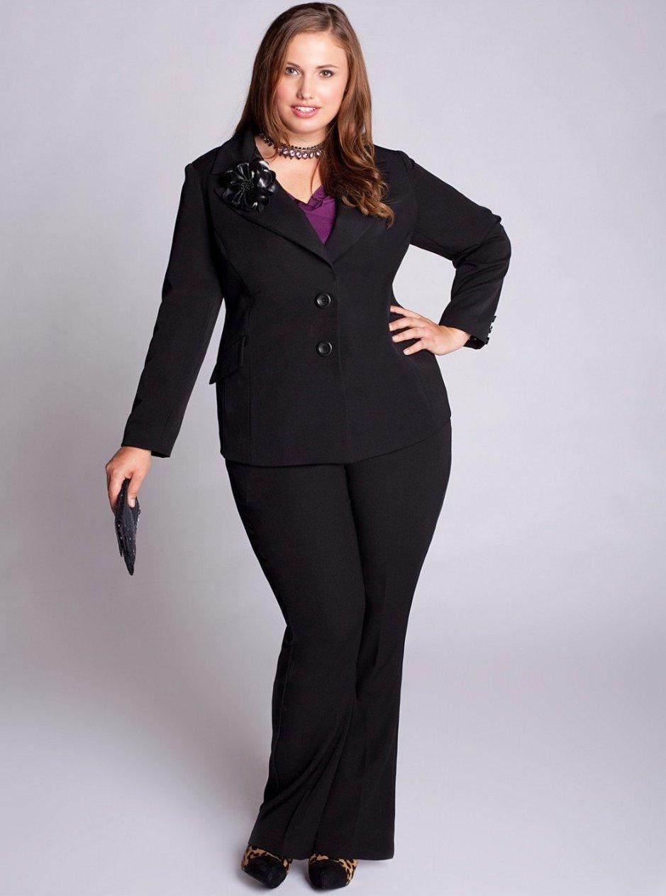 Деловой костюм женский для полной женщины