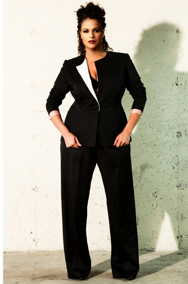 Брючные костюмы женские для полных фото