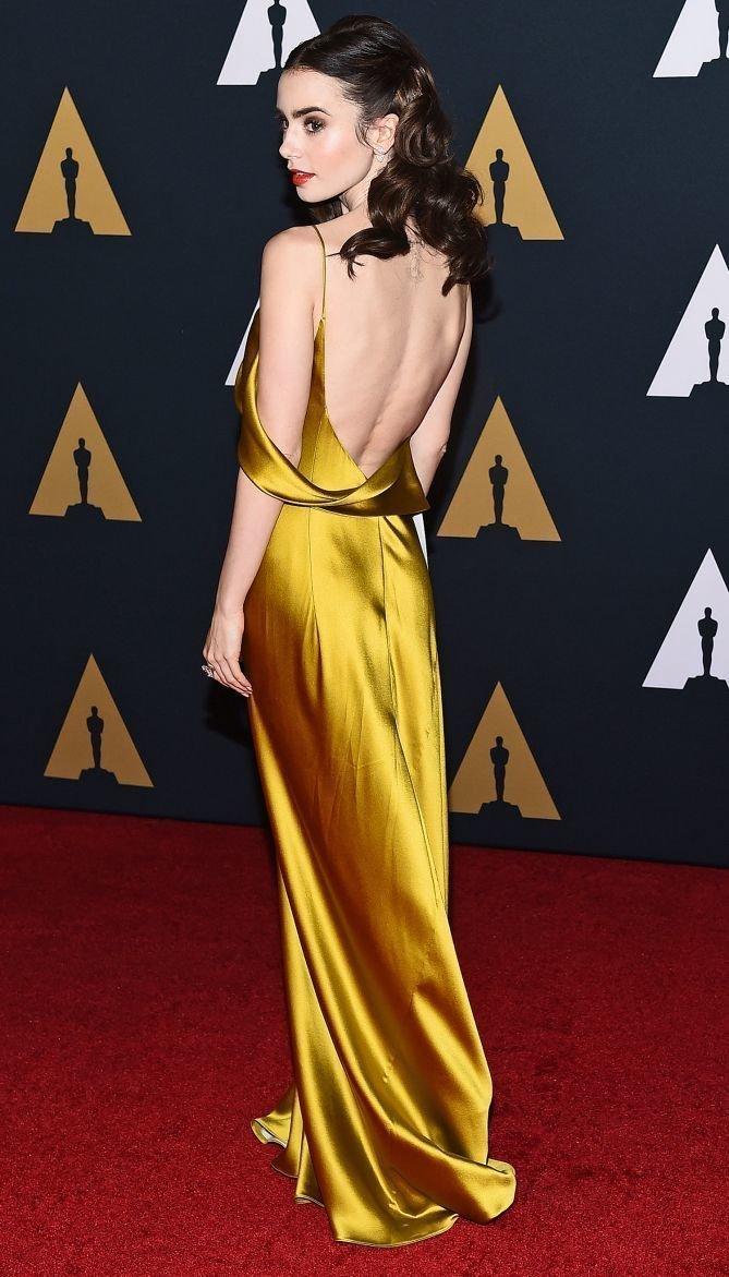 Платье атласное открытая спина