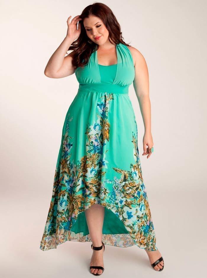 Фото платьев летних для полных 2017