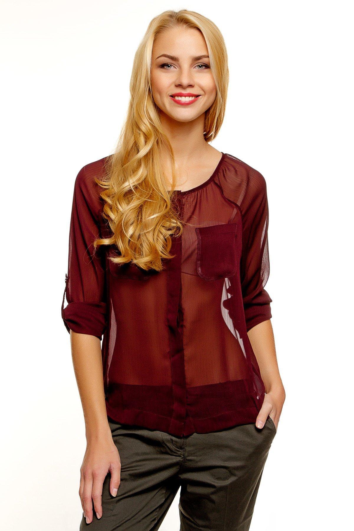 370b1dd487c Модные блузки из шифона (50 фото) — Новинки   Модели 2018