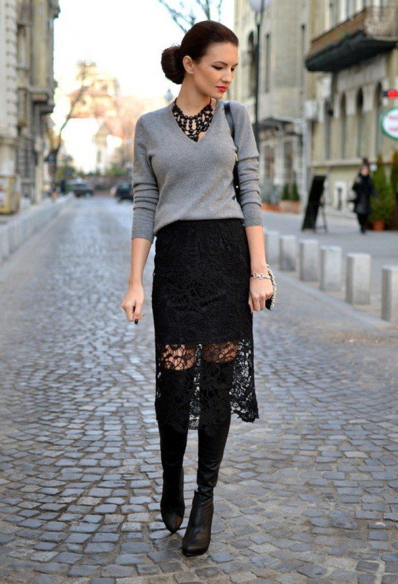 fad7fcd6d774 Гид по стилю 2019|: Черные юбки (50 фото) — С чем носить?