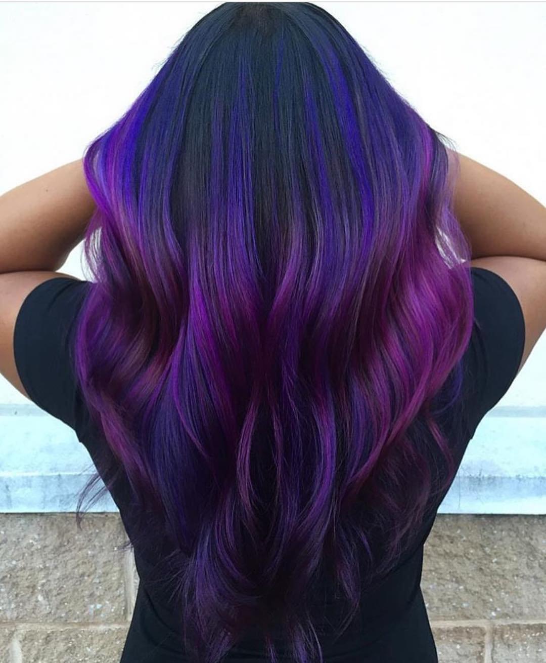 Картинки по запросу Фиолетовые пряди