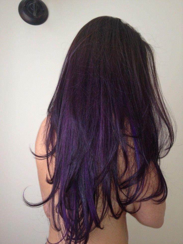 Затонировать волосы в фиолетовый