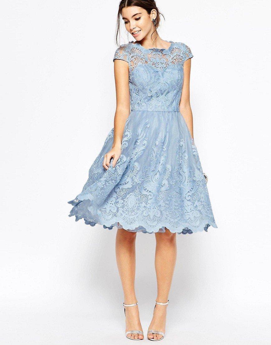 50 фото  Шикарное Голубое Платье — С чем носить в 2017  88a5ae633d5b4