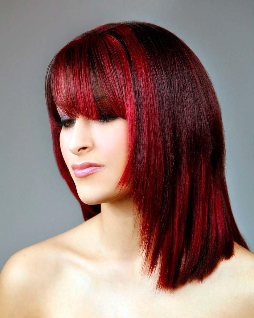 мелирование красных волос фото сама