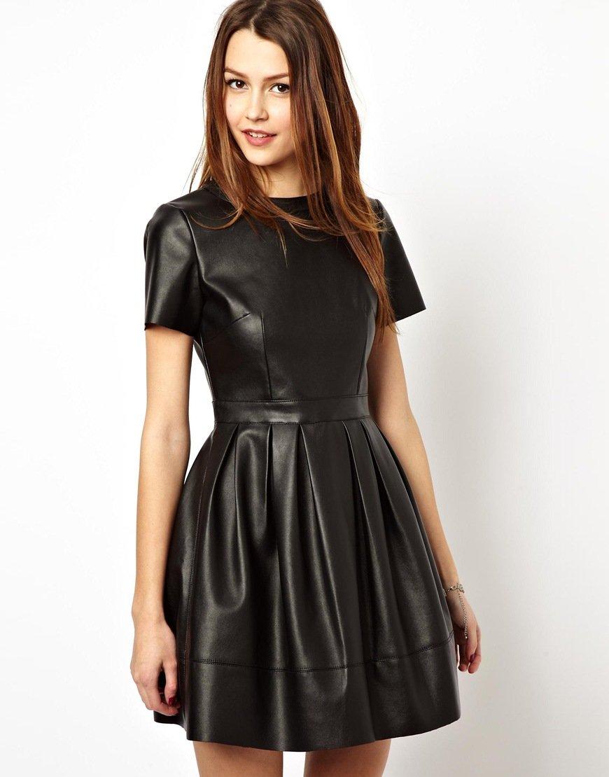 Фото кожаных платьев