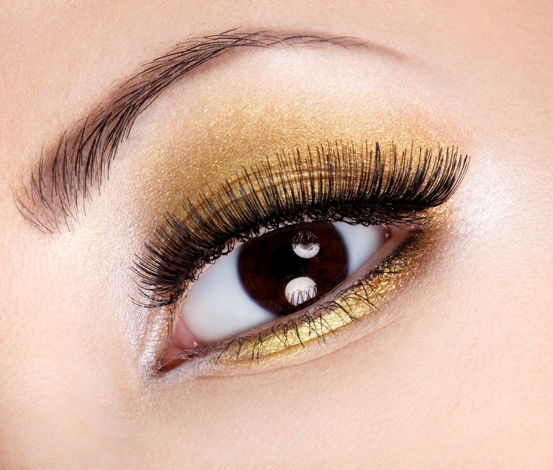 Как на сделать карие глаза