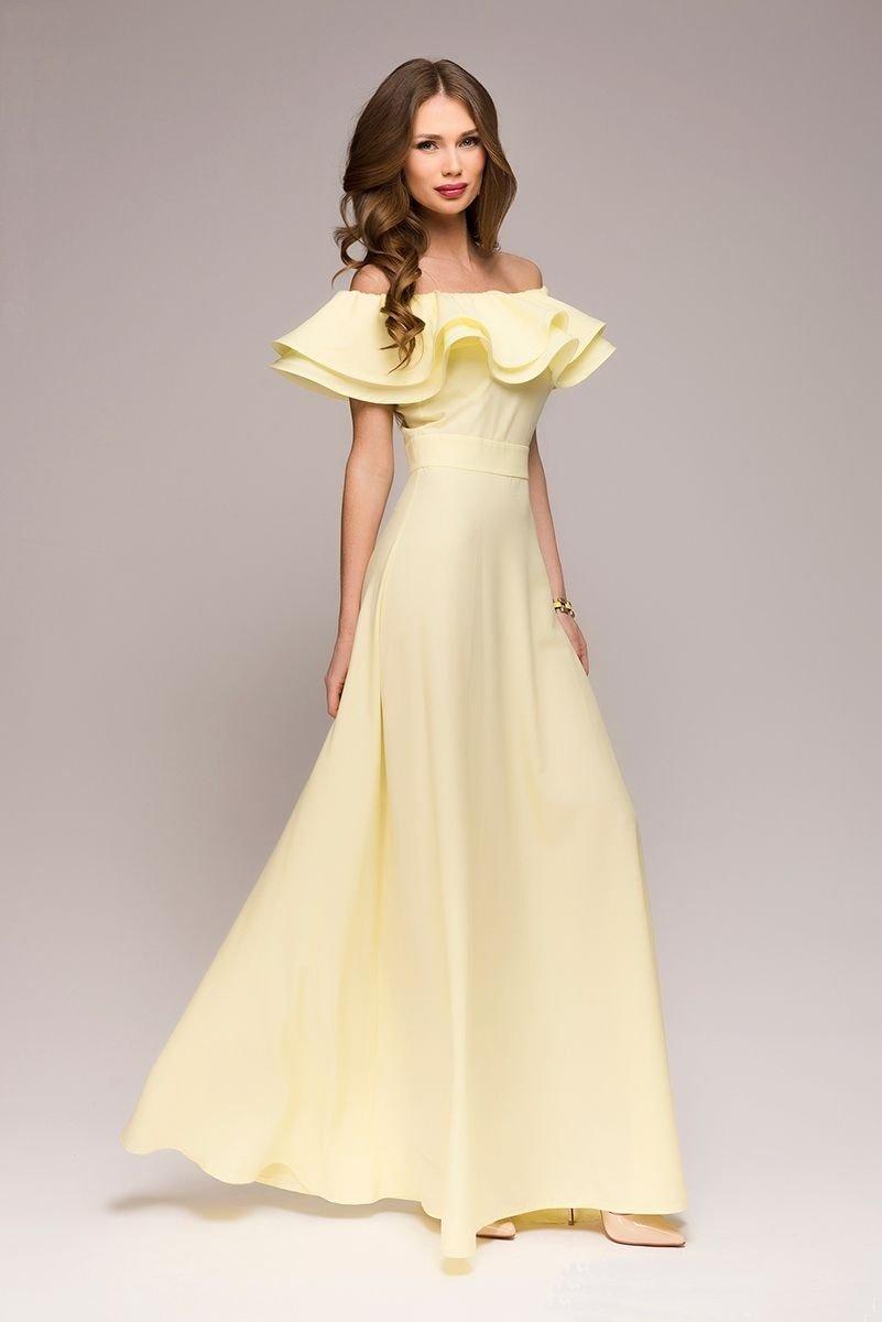 Вечерние платья с воланами
