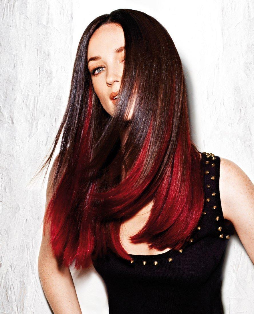 покраска волос красный черный картинки время среди российских