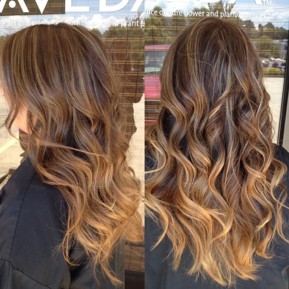 Light golden brown hair ombre