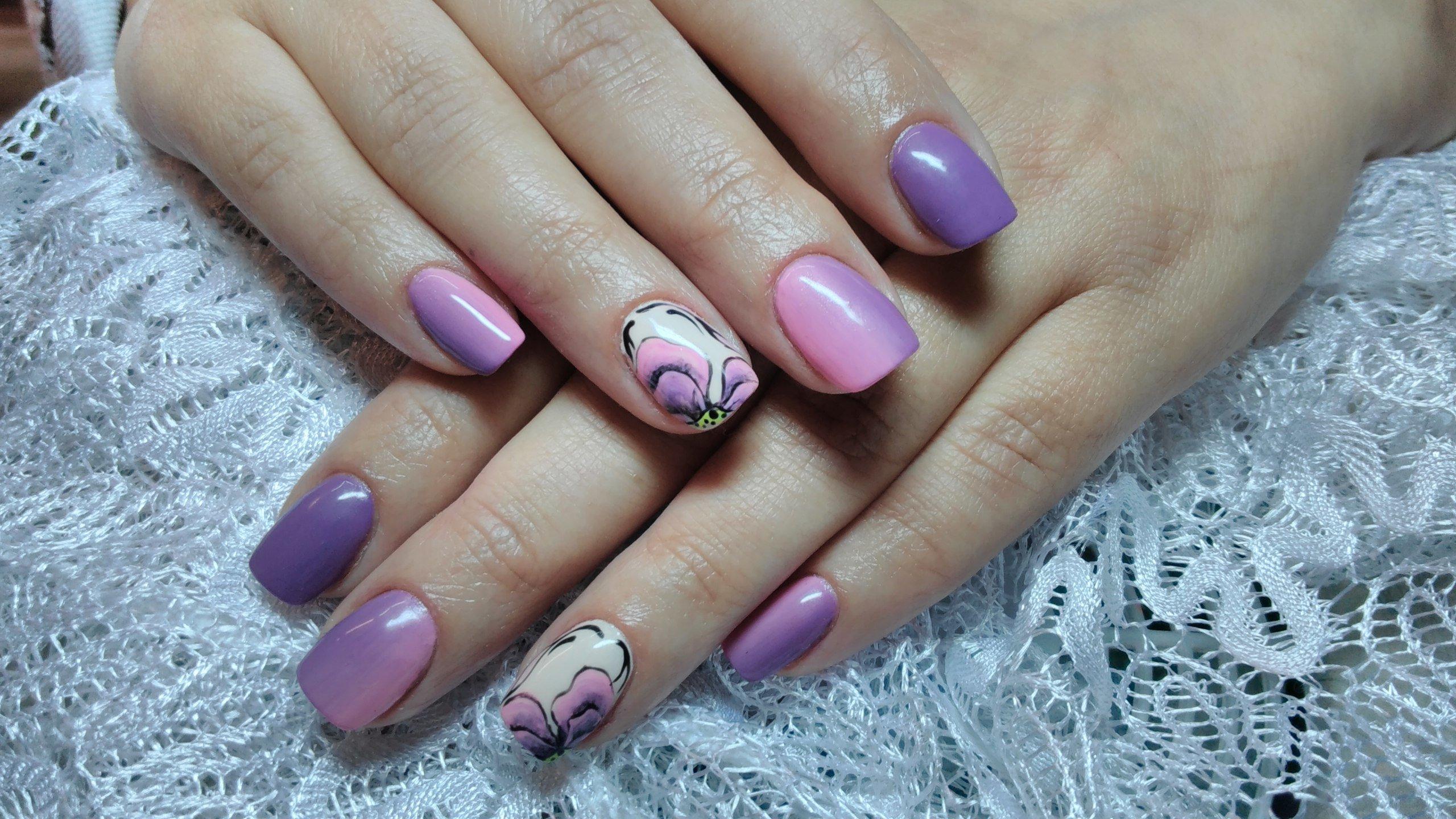 sirenevyj-manikyur-foto_30 Фиолетовый маникюр 2019-2020, фиолетовый дизайн ногтей, маникюр фиолетового цвета