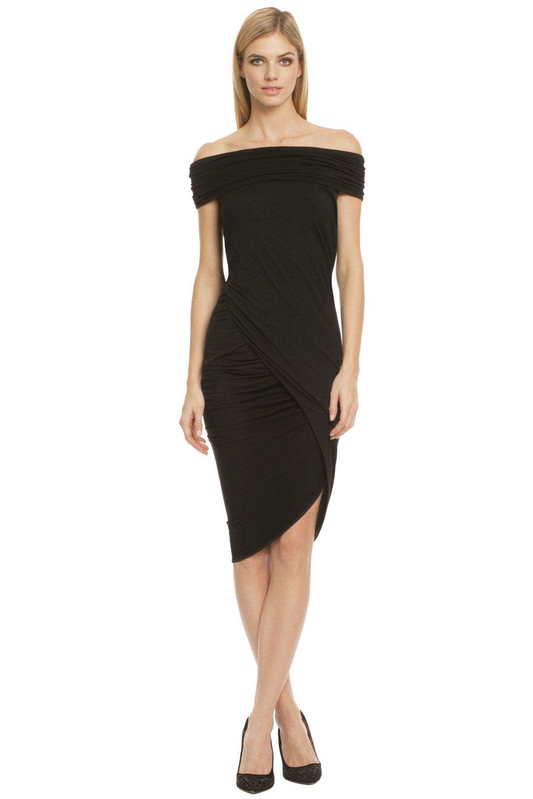something-flirty-choose-Donna-Karan-Piano-Key-dress Платье трансформер: варианты вечерних платьев. Как сшить платье со съемной юбкой своими руками?