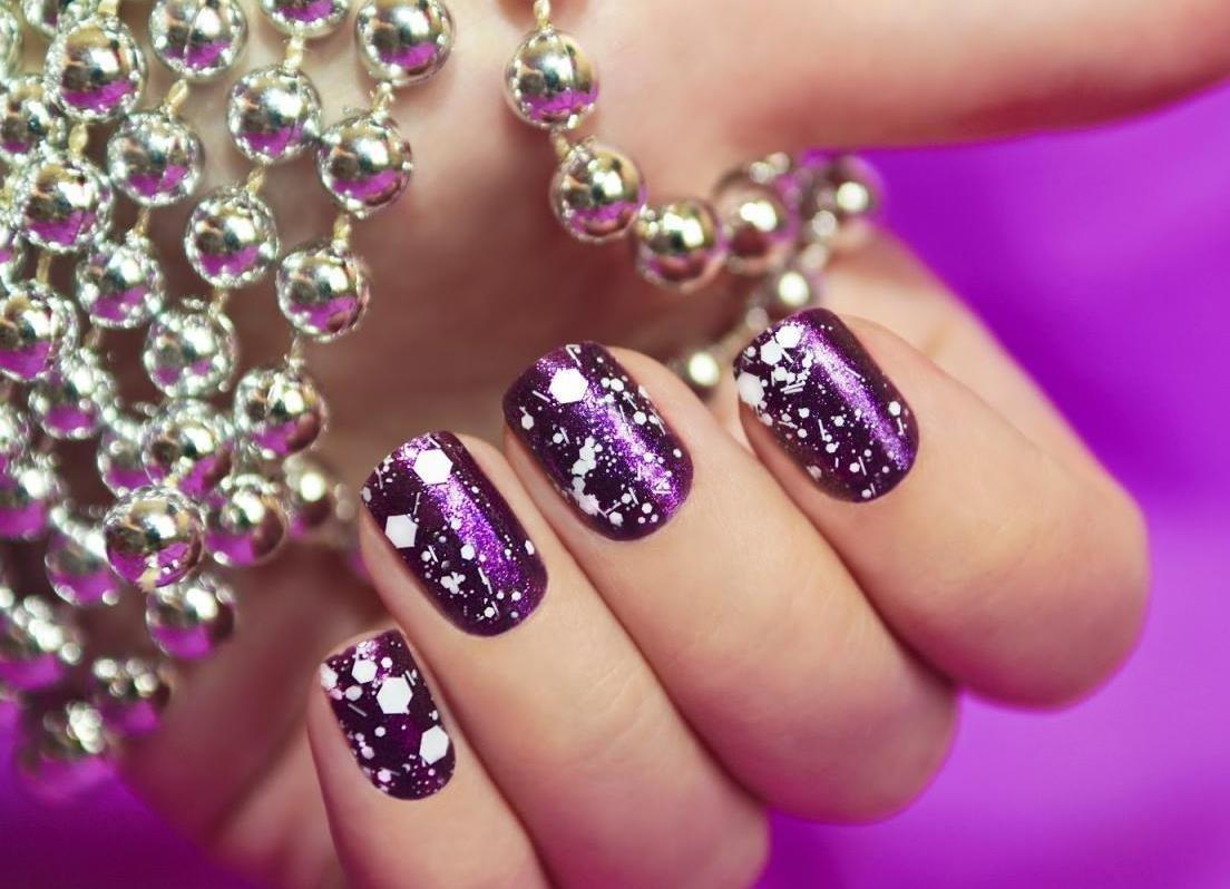 Блестящий топ для гель лака фото ногтей