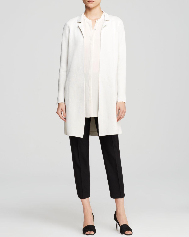 eileen-fisher-white-notch-collar-long-jacket-product-1-27116425-0-236223646-normal Белый жакет (43 фото): с чем носить, с коротким рукавом