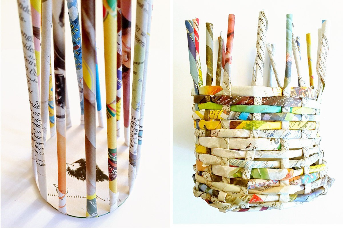 корзинки из журнальных трубочек пошаговое фото предназначена для пользования