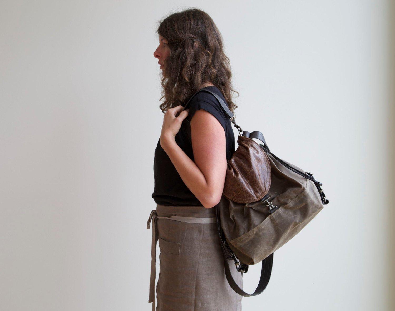 сумка рюкзак трансформер женская