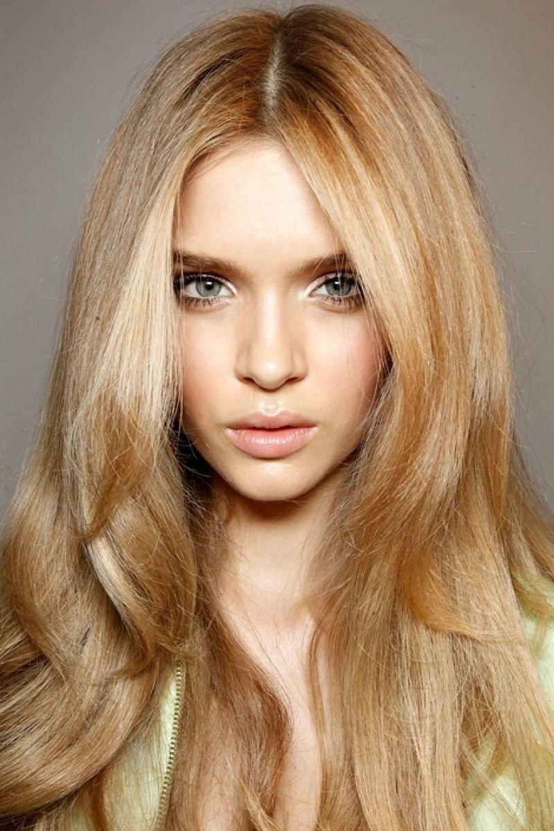 Светло пшеничный цвет волос фото