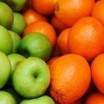 Яблоки и цитрусовые