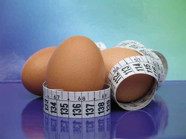 Яйца и сантиметр