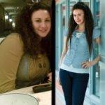 Девушка до и после следования диете Елены Малышевой