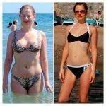 Фигура женщины до и после диеты Елены Малышевой