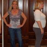 Женщина до применения диеты Е. Малышевой и после