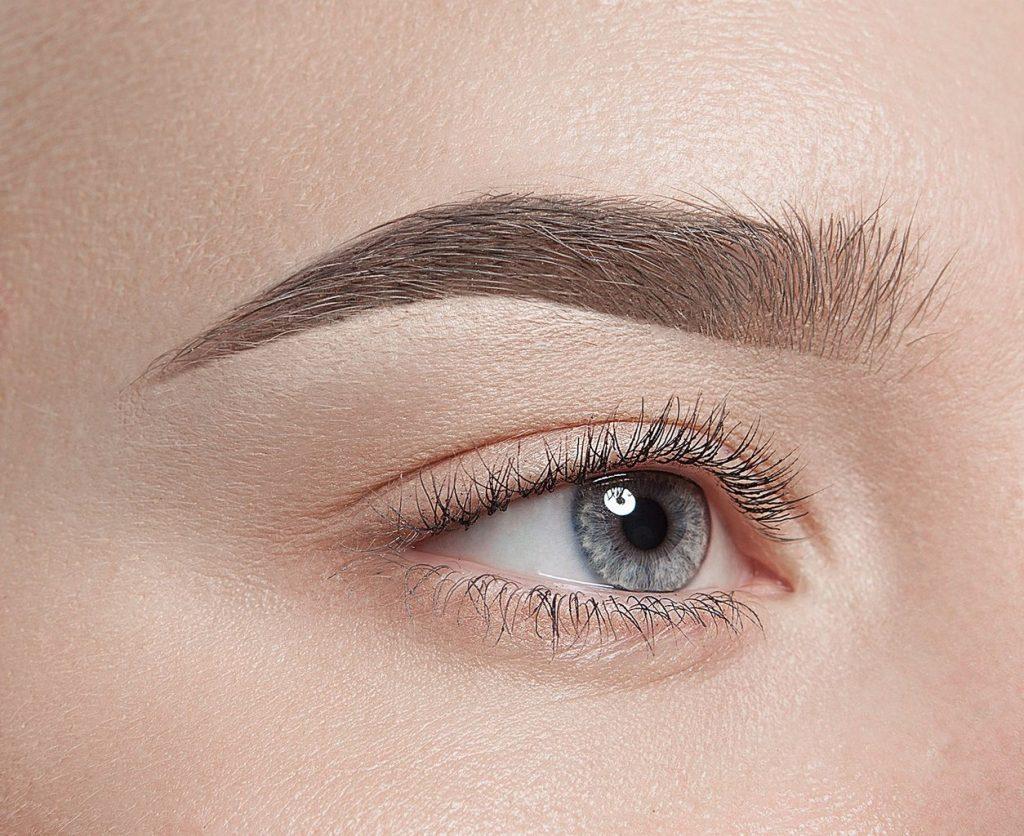 Женский глаз и бровь, выполненная техникой мягкой растушёвки