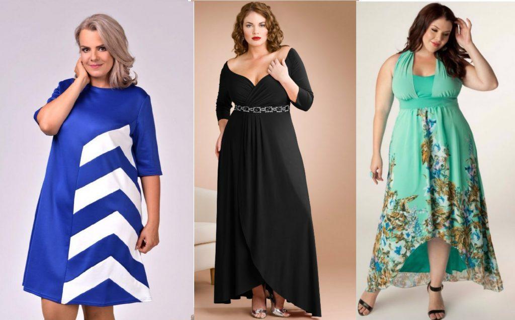 Варианты платьев для полных