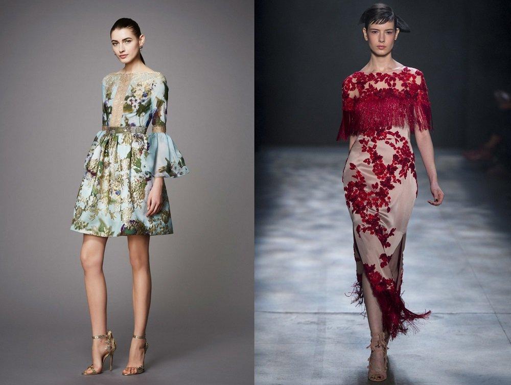 Платья с цветочным узором
