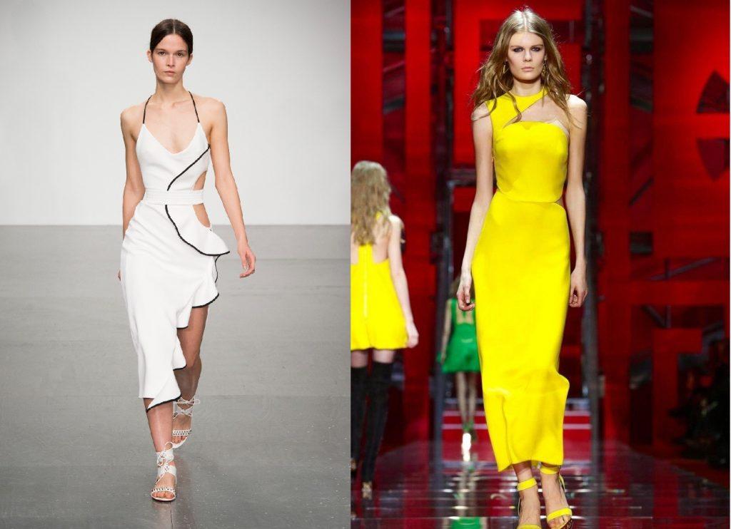 Платье с асимметричными деталями