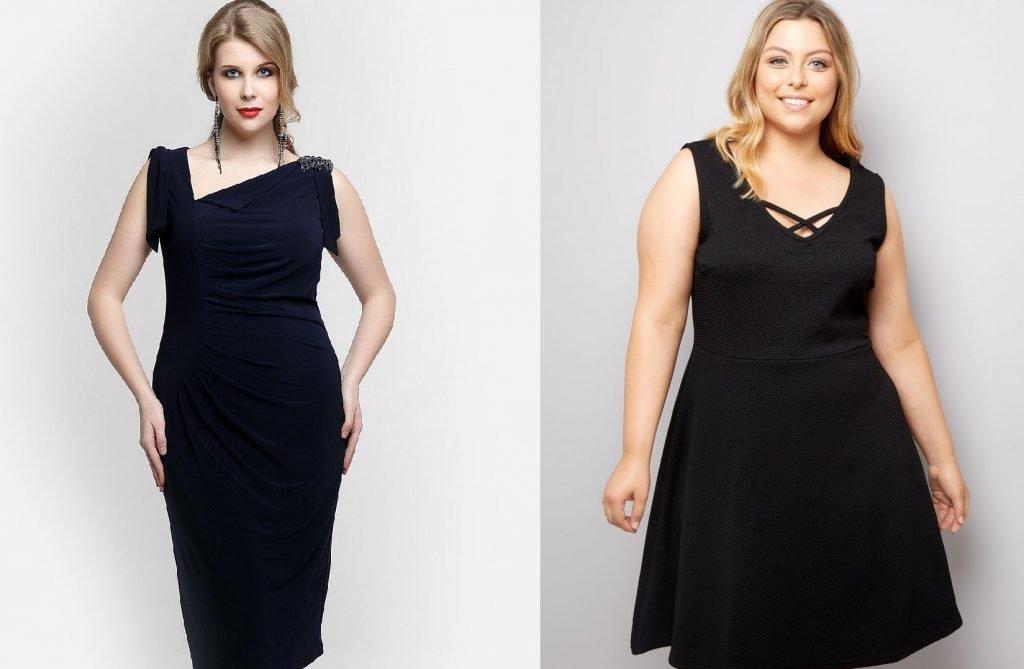 Чёрные платья для полных девушек