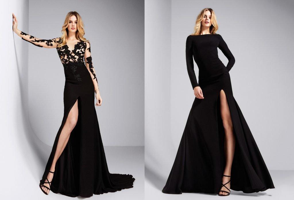 Чёрные платья с вырезом