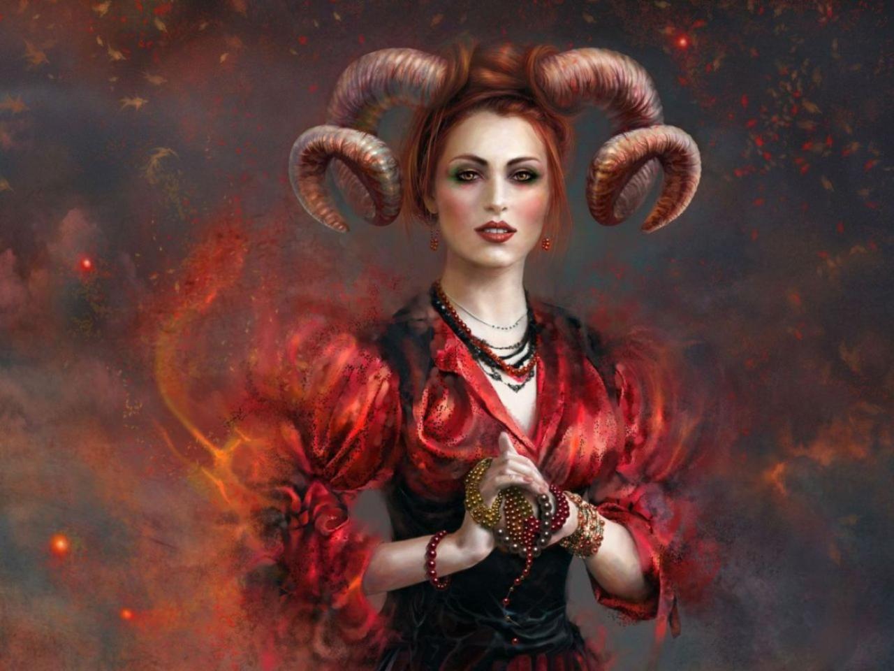 Картинка знак зодиака овен женщина