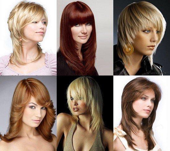 Модели стрижки лесенка на волосах разной длины
