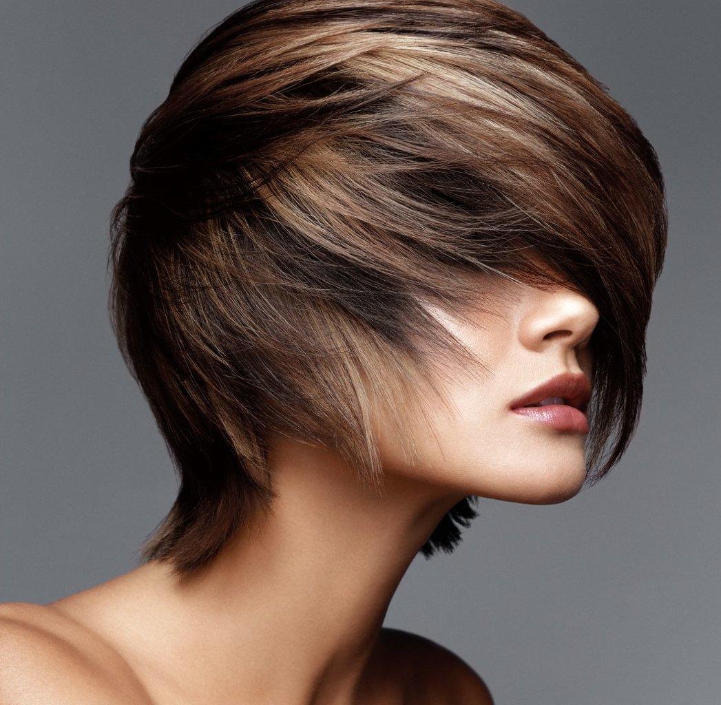 покраска волос на темные короткие волосы фото того как
