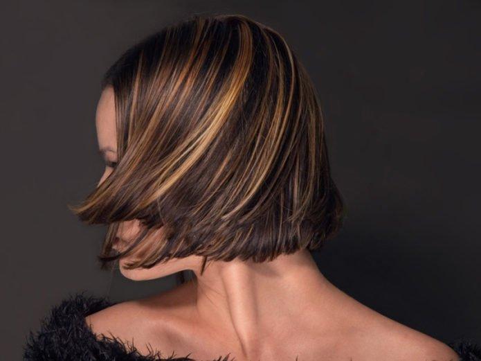 Венецианское мелирование на короткие волосы