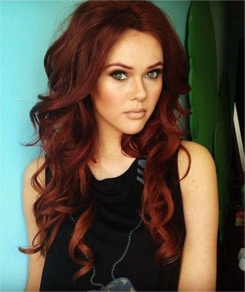 Завивка на длинных волосах