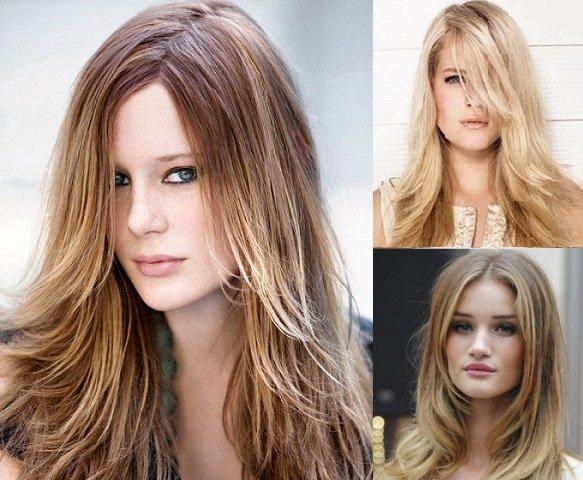 Многослойные стрижки на длинных волосах