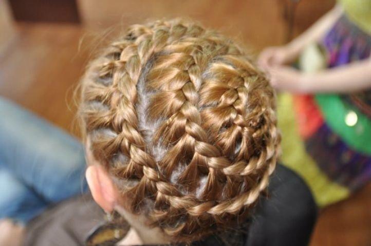 Круговая французская коса