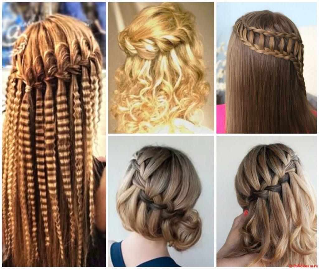Причёски, украшенные французской косой
