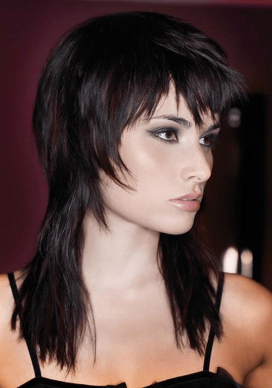 Стрижка гаврош на длинные темные волосы