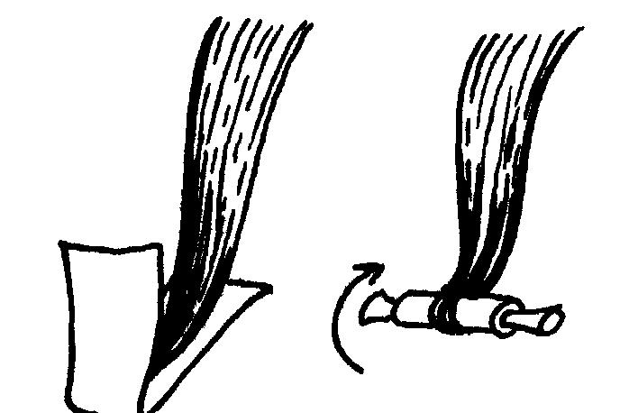 накрутка волос на тканевые полоски