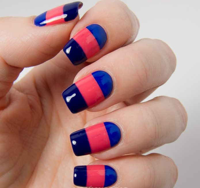 colour blocking manicure