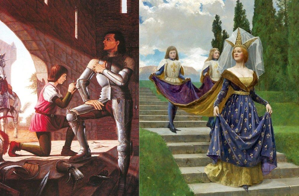 Картины из жизни людей в Средние века